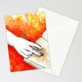 Inky hands11-Writing Stationery Cards