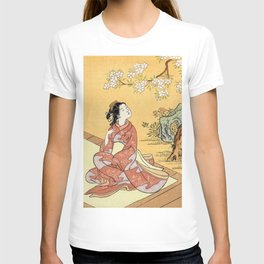 Woman & Cherry Blossoms T-shirt