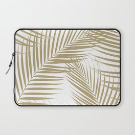 Palm Leaves - Gold Cali Vibes #1 #tropical #decor #art #society6 Laptop Sleeve