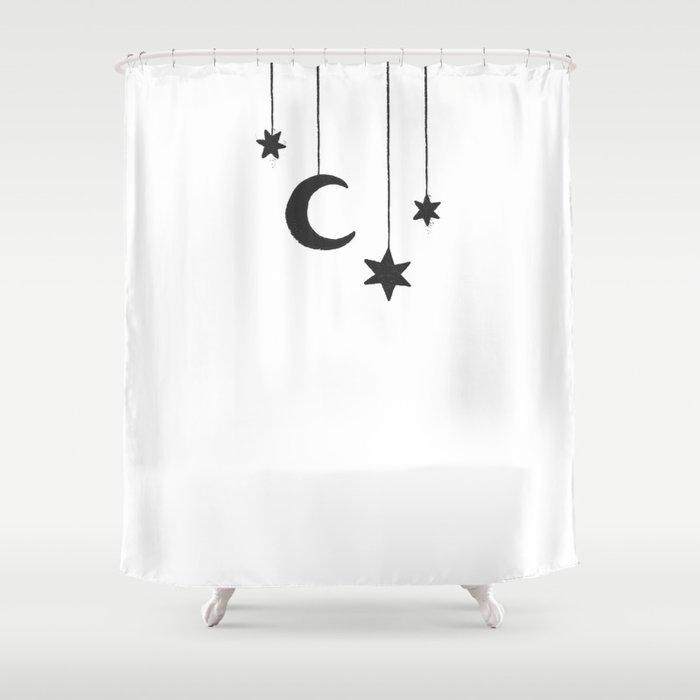 MOON THE STARS Shower Curtain