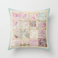 shabby chic Throw Pillows featuring Shabby Chic No.1 by Artistic Home Decor