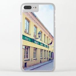 Ancient street in Old city center in Vilnius Clear iPhone Case