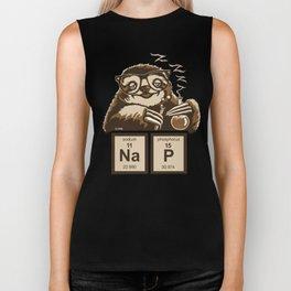 Chemistry sloth discovered nap Biker Tank