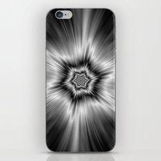 Black and White Star Burst iPhone & iPod Skin