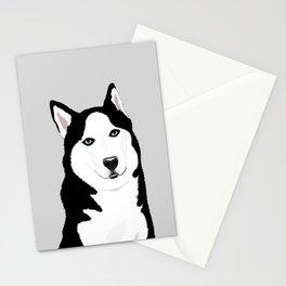 The Loyal Siberian Husky Stationery Cards