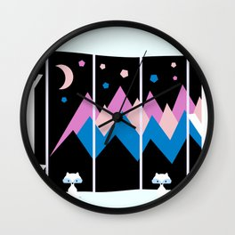 Colorful night Wall Clock