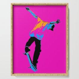 """Flipping the Deck"" Skateboarding Stunt Serving Tray"