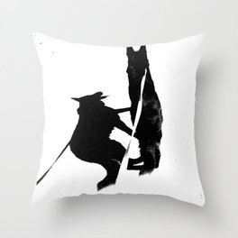 Shadow Dog Throw Pillow