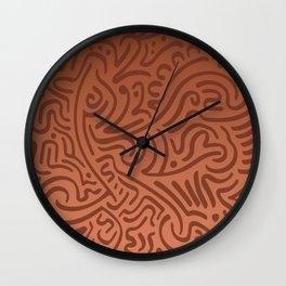 Kotor Rust Weave Wall Clock