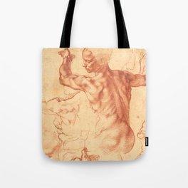 "Michelangelo Buonarroti ""Studies for the Libyan Sibyl"" Tote Bag"