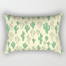 Cactus in Yellow Palette Rectangular Pillow