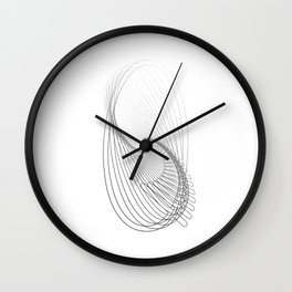 """""""Fly Collection"""" - Abstract Minimal Letter Q Print Wall Clock"""