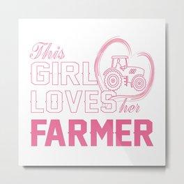 Loves Her Farmer Metal Print