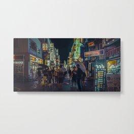 TOKYO BLOOM - Light Frenzy Metal Print