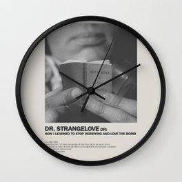Dr. Strangelove Minimal Movie Poster No 02 Wall Clock