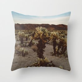 Cholla Cactus Garden XII Throw Pillow