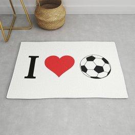 I Love Soccer Rug
