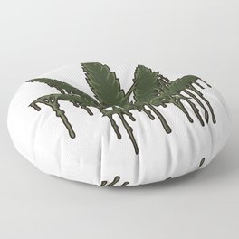 Melting Cannabis Leaf | Marijuana THC CBD Stoner Floor Pillow
