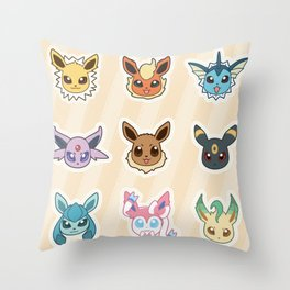Colorful Pockt Friends Throw Pillow