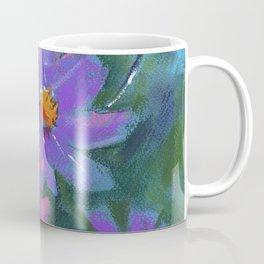 Garden flowers (Cosmos bipinnatus, Mexican aster) pastel painting on pastel paper) Coffee Mug