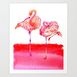 Flamingo_Lover Art Print