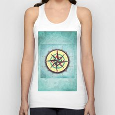 Striped Compass Rose Unisex Tank Top