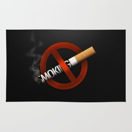 No Smoking - Smoking Kills Rug