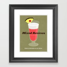 Mixed Reviews - Fear and Loathing in Las Vegas Framed Art Print