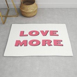 Love More (pink) Rug