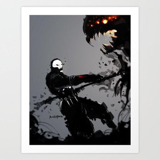 Skullz Slicer Art Print