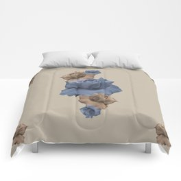 Glitch Roses Gold Comforters