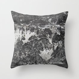 Grunge old vintage wall Throw Pillow