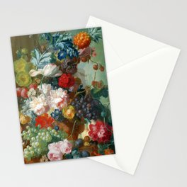 """Jan van Os """"Fruit and Flowers in a Terracotta Vase"""" Stationery Cards"""