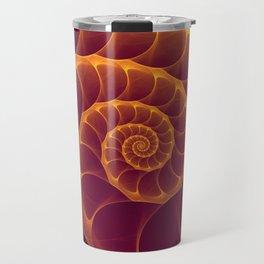 Infinity | Gold Burgundy Sea Shell Travel Mug