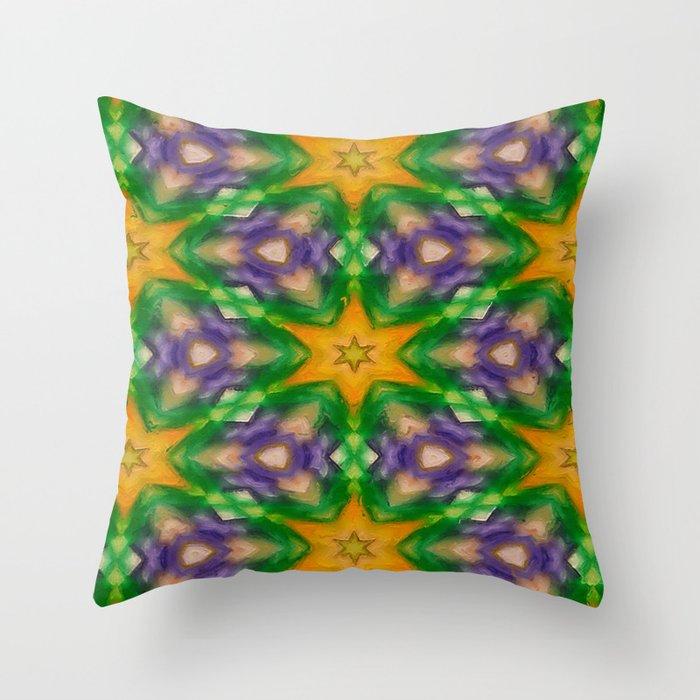 Mardi Gras stars #4509 Throw Pillow