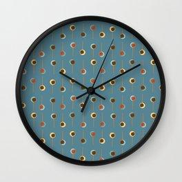 Cake Pop Parade - Blue Wall Clock