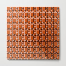 8-bit bricks Metal Print
