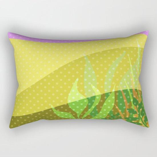 Multi-colored pattern . Tropics . Rectangular Pillow