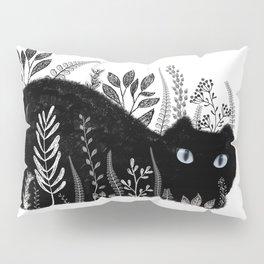 Garden Cat Black And White Pillow Sham