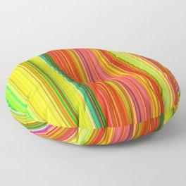 Rainbow Glowing Stripes Floor Pillow