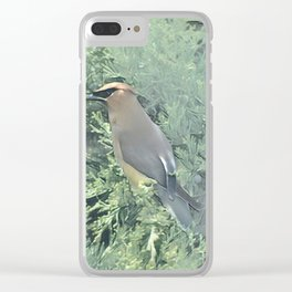 Cedar Waxwing Bird Clear iPhone Case