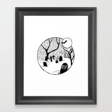 Halloween graveyard Framed Art Print