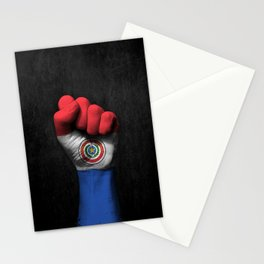 Paraguay Flag on a Raised Clenched Fist Stationery Cards