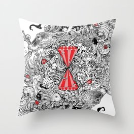 10 of Diamonds Throw Pillow