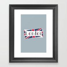 Home, Love, Illustration, Heart, london  Framed Art Print