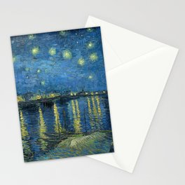 Starry night over the Rhône Stationery Cards
