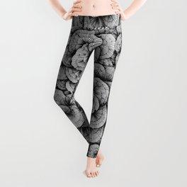 Flower-op-art-line Leggings