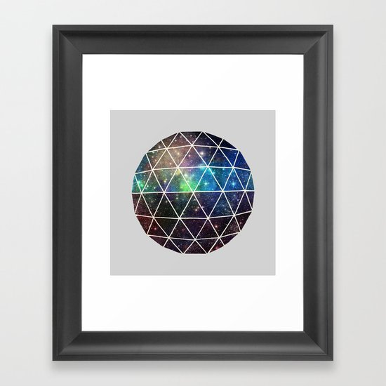 Space Geodesic Framed Art Print