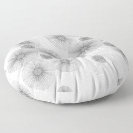 Abstract Flowers 1 Floor Pillow