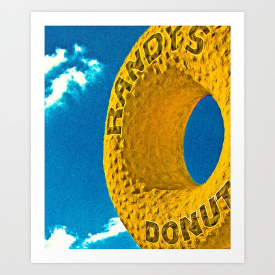 Randy's Donut's, Los Angeles Art Print